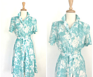 etsy, floral dress, and green dress image