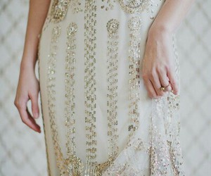 bride, gold, and ring image