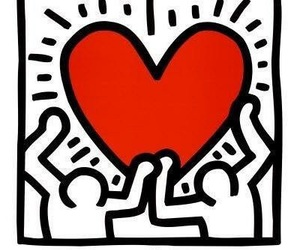 heart, keith haring, and art image