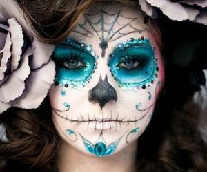 Halloween, makeup, and blue image