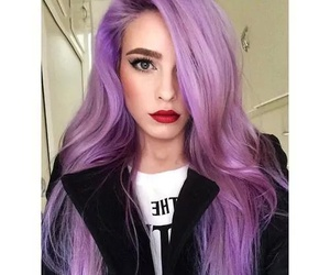 hair, pretty, and purple image