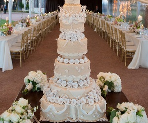 wedding, wedding cake, and bride image