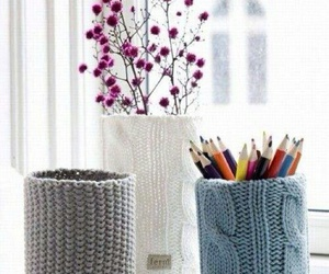 flowers and knitted image