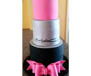 mac, cake, and lipstick image