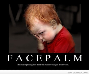 boy, kid, and facepalm image