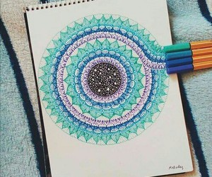 art, drawing, and blue image