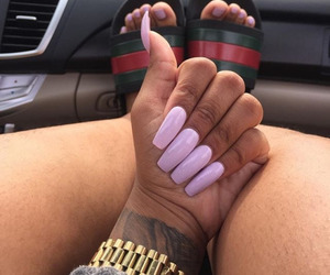nails and hairy legs image