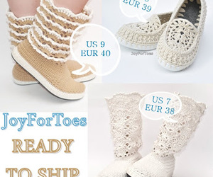 boots, crochet, and fashion image