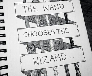 harry potter, wizard, and wand image