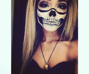 Halloween, girl, and makeup image