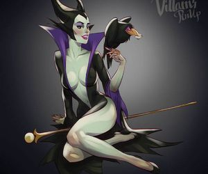 disney, maleficent, and villain image