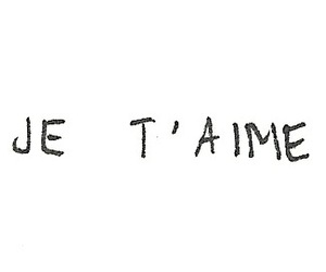 je t'aime and love image