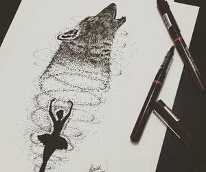 ballerina, black, and Darkness image