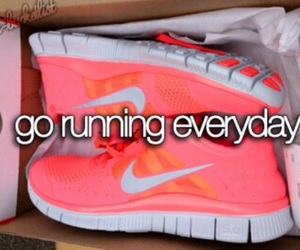 running, fitness, and nike image