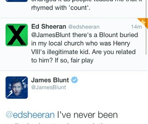 funny, james blunt, and twitter image