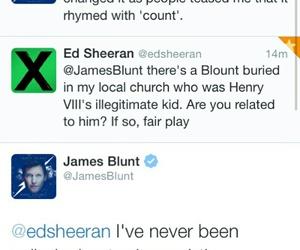 funny, ed sheeran, and james blunt image