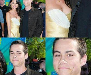 selena gomez, dylan o'brien, and funny image