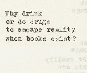 books, drugs, and reality image