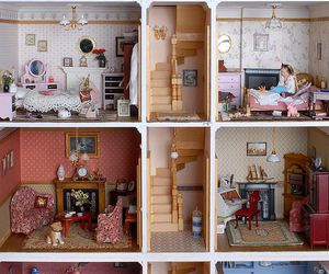 doll, dollhouse, and house image