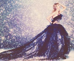 Taylor Swift, dress, and starlight image