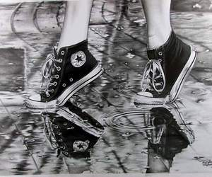 converse, rain, and shoes image