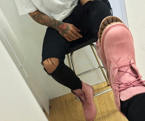 pink, tattoo, and boy image