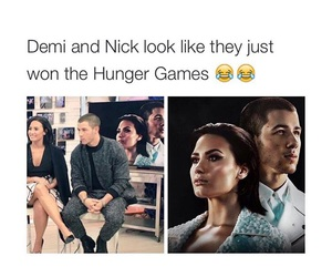funny, demi lovato, and nick jonas image