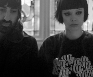 Alice Glass, black and white, and Crystal Castles image