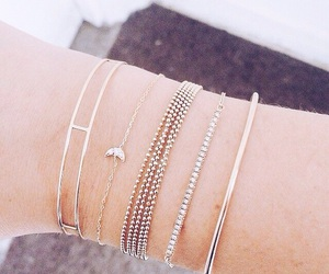 accessories, gold, and bracelets image