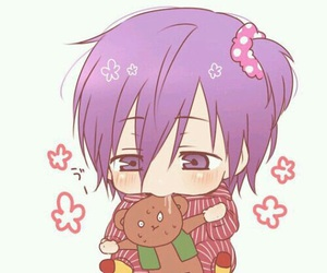 anime, murasakibara, and chibi image