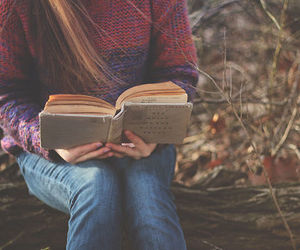 book, girl, and autumn image