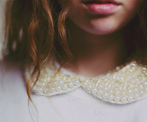 girl, pearls, and photography image