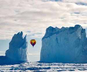 air balloon, amazing, and ice image