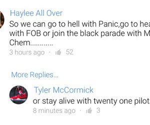 fall out boy, panic! at the disco, and funny image