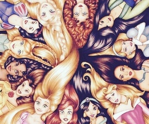 disney, hair, and princeses image