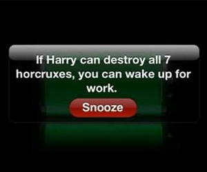 alarm, harry potter, and phone image
