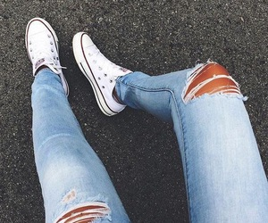 fashion, jeans, and converse image