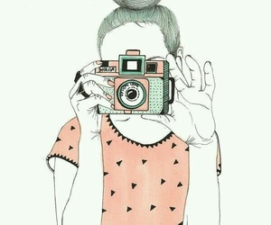camera, girl, and snapshot image