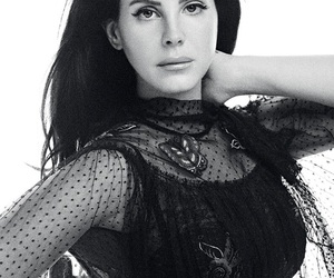 lana del rey, black and white, and photoshoot image