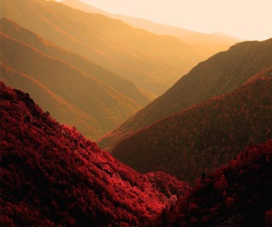 nature, red, and mountains image
