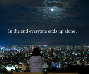 alone, girl, and end image