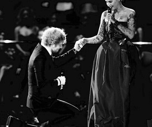 ed sheeran, ema, and ruby rose image