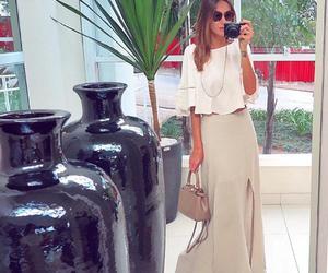 bag, blusa, and long image