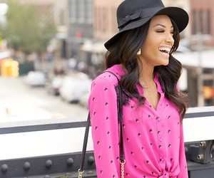 fall, fashion, and floppy hat image