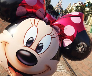 disney, disneyland, and minnie mouse image