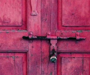 photography, pink, and door image