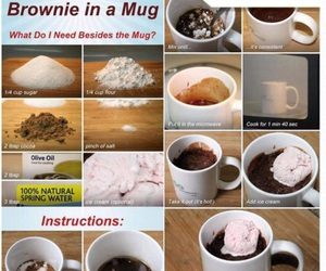 brownie, food, and mug image