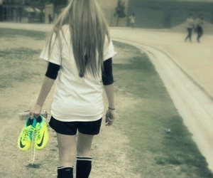 girl, football, and soccer image