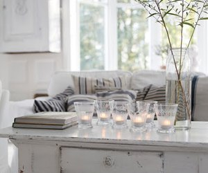 white, candle, and interior image