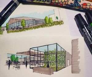 architecture, cool, and sketch image